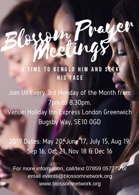 Blossom Prayer Meeting @ Holiday Inn Express, London Greenwich