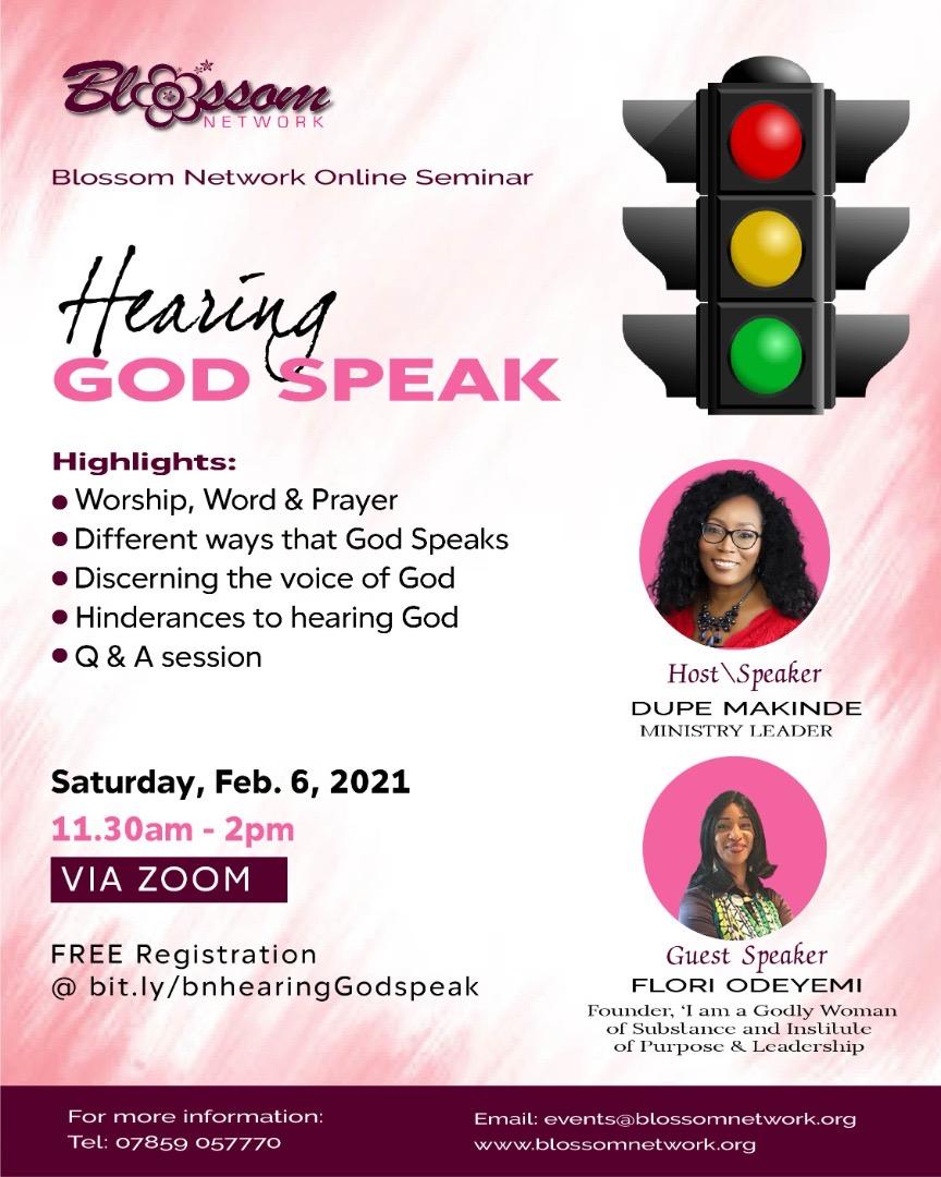 Blossom Network Online Seminar - Hearing God Speak @ Online via Zoom