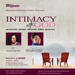 Blossom Online Seminar - Intimacy with God @ Online via Zoom